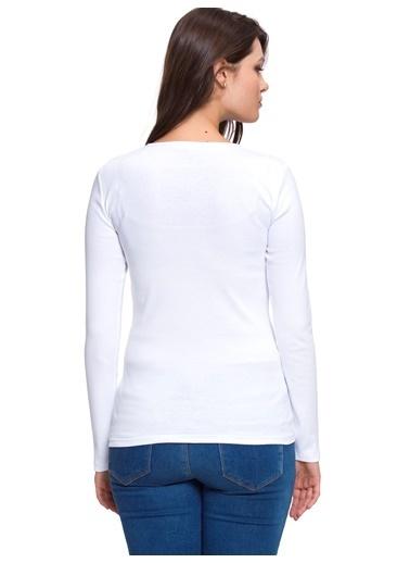 LC Waikiki Uzun Kollu Bluz Beyaz